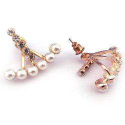 Post - Clous d'oreilles en zircon suspendus - Or de Rose
