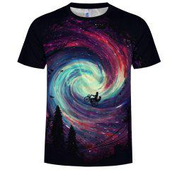 Fashion Men'S 3D Print Romantic  T-Shirt -