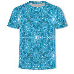 Men's New Bubble Lattice 3D Printed Short-Sleeved T-Shirt -