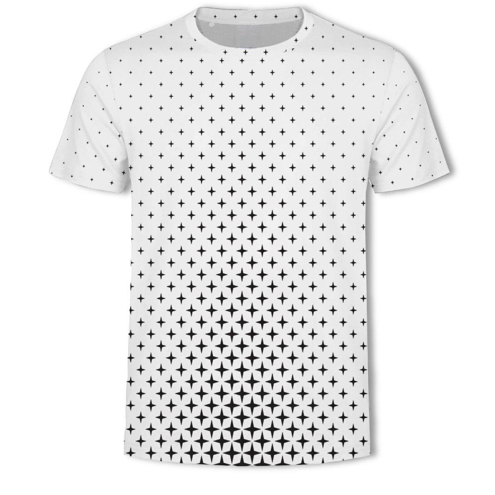 Best Men's New Bubble Lattice 3D Printed Short-Sleeved T-Shirt