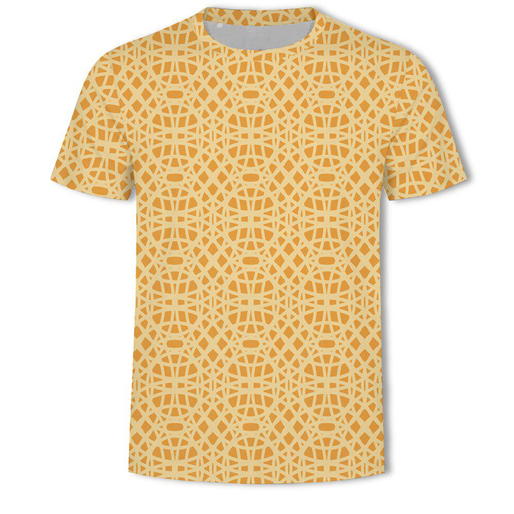 Shop Men's New Bubble Lattice 3D Printed Short-Sleeved T-Shirt