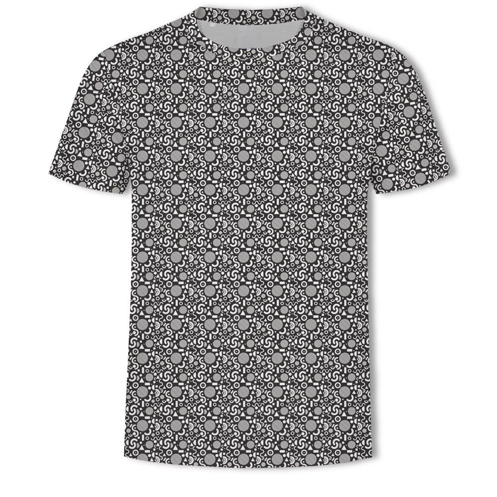 Fashion Men's New Bubble Lattice 3D Printed Short-Sleeved T-Shirt