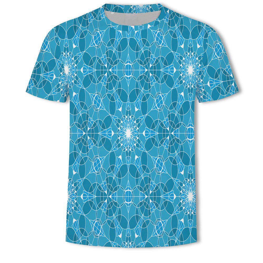 Hot Men's New Bubble Lattice 3D Printed Short-Sleeved T-Shirt
