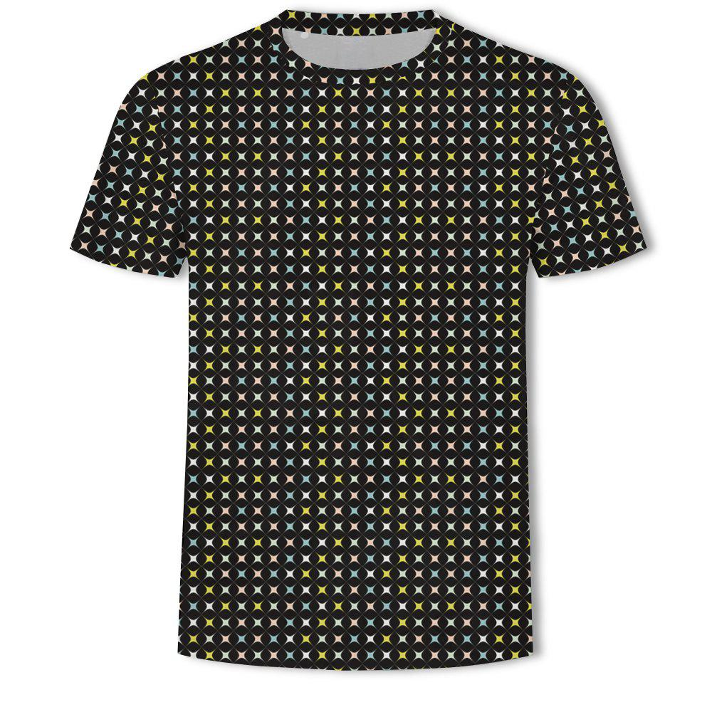 Outfits Men's New Bubble Lattice 3D Printed Short-Sleeved T-Shirt