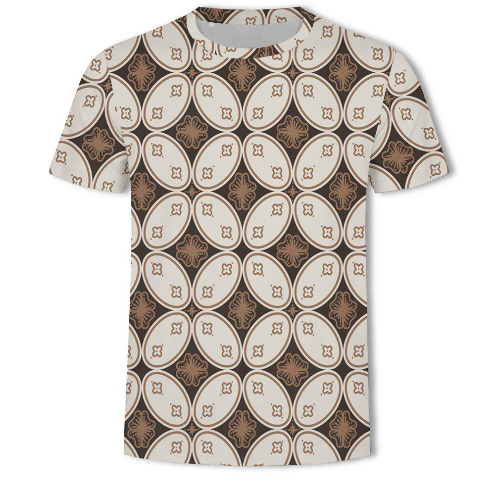 Outfit Men's New Bubble Lattice 3D Printed Short-Sleeved T-Shirt
