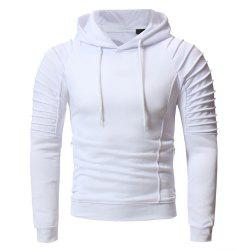 Men'S Fashion Personality Pleated Design Casual Slim Hoodie -