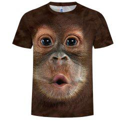 3D Fashion Men'S Print Fashion Monkey T-Shirt -