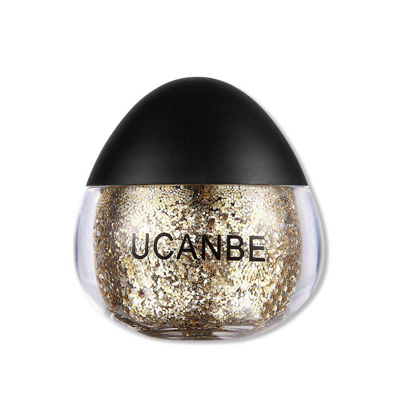 Sale UCANBE Brand Face Body Glitter Paste Cream Makeup Gold Silver Diamond Highlighte
