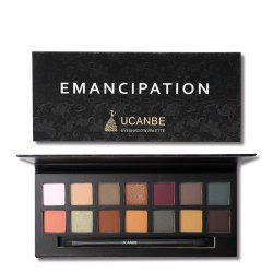UCANBE Brand 14 Colors Eyeshadow Makeup Palette Matte Metallic Eye Shadow Waterp -