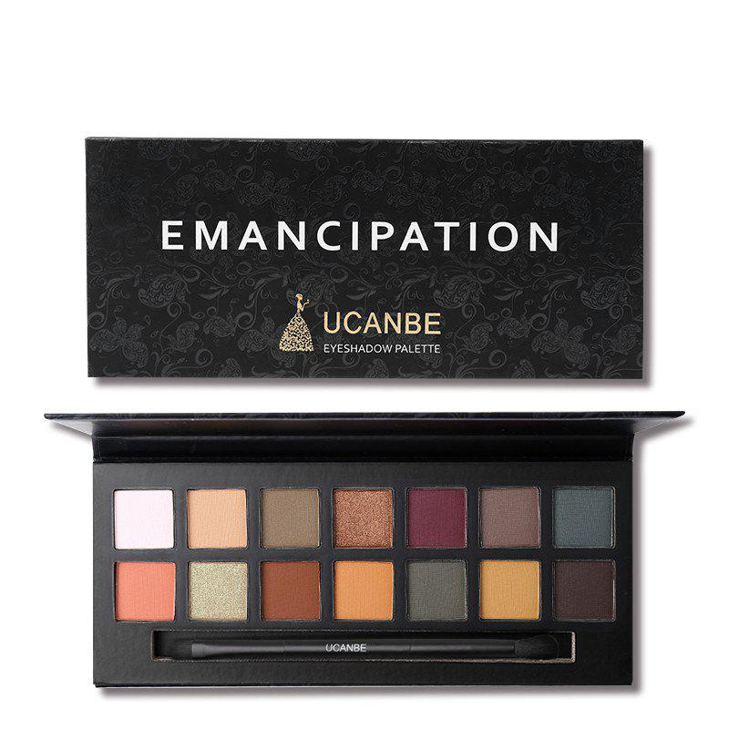 Latest UCANBE Brand 14 Colors Eyeshadow Makeup Palette Matte Metallic Eye Shadow Waterp