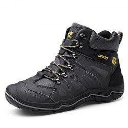 Large Size Men Leather Wear-Resistant Anti-Skid Leisure Outdoor Hiking Shoes -