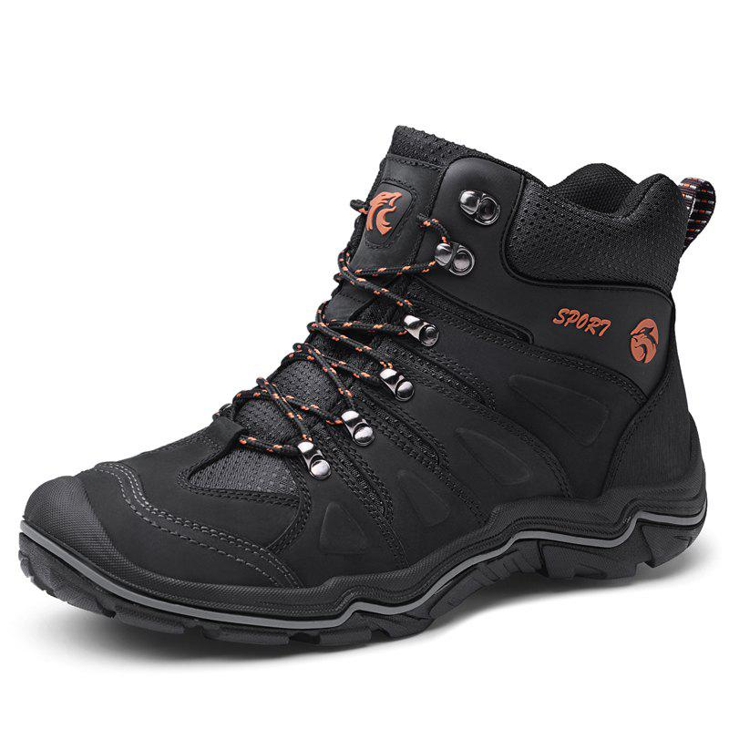 Affordable Large Size Men Leather Wear-Resistant Anti-Skid Leisure Outdoor Hiking Shoes