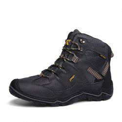 Large Size Men Wear-Resistant Anti-Skid  Leather  Leisure Outdoor Hiking Shoes -