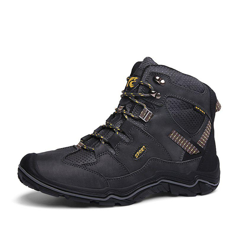 Outfit Large Size Men Wear-Resistant Anti-Skid  Leather  Leisure Outdoor Hiking Shoes