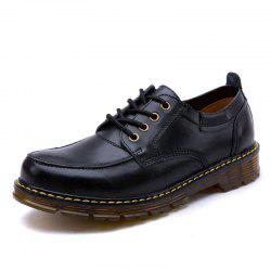 Men Leather Brush Laced Wear-Resistant Outdoor Leisure Tooling Boots -