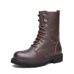 Men Leather Long Tube with Non-Slip Wear-Resistant Western Tooling Boots -