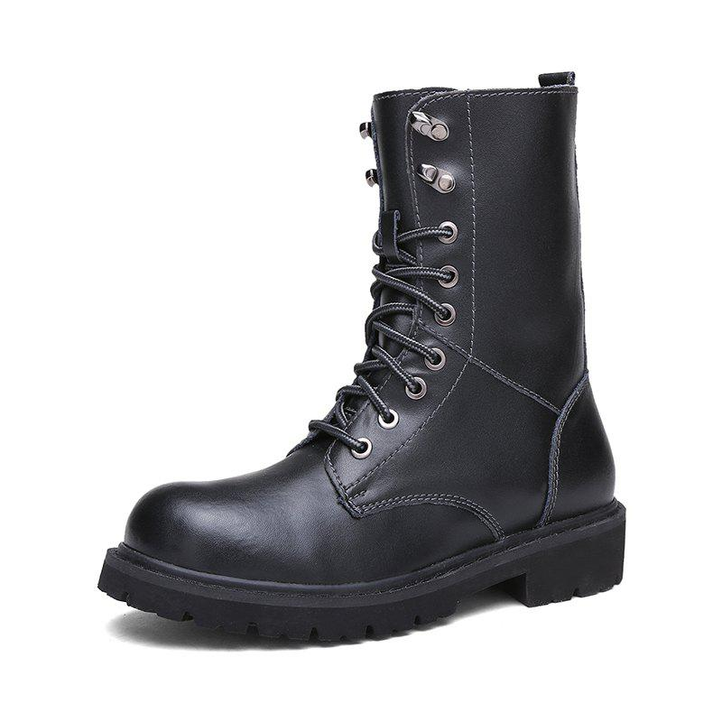 Hot Men Leather Long Tube with Non-Slip Wear-Resistant Western Tooling Boots