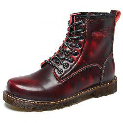 Men High-Cut Brush Leather Wear-Resistant Anti-Skid Leisure Outdoor Work Boots -