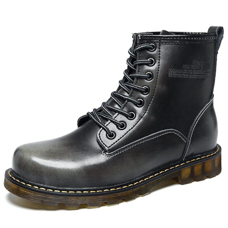 Unique Men High-Cut Brush Leather Wear-Resistant Anti-Skid Leisure Outdoor Work Boots