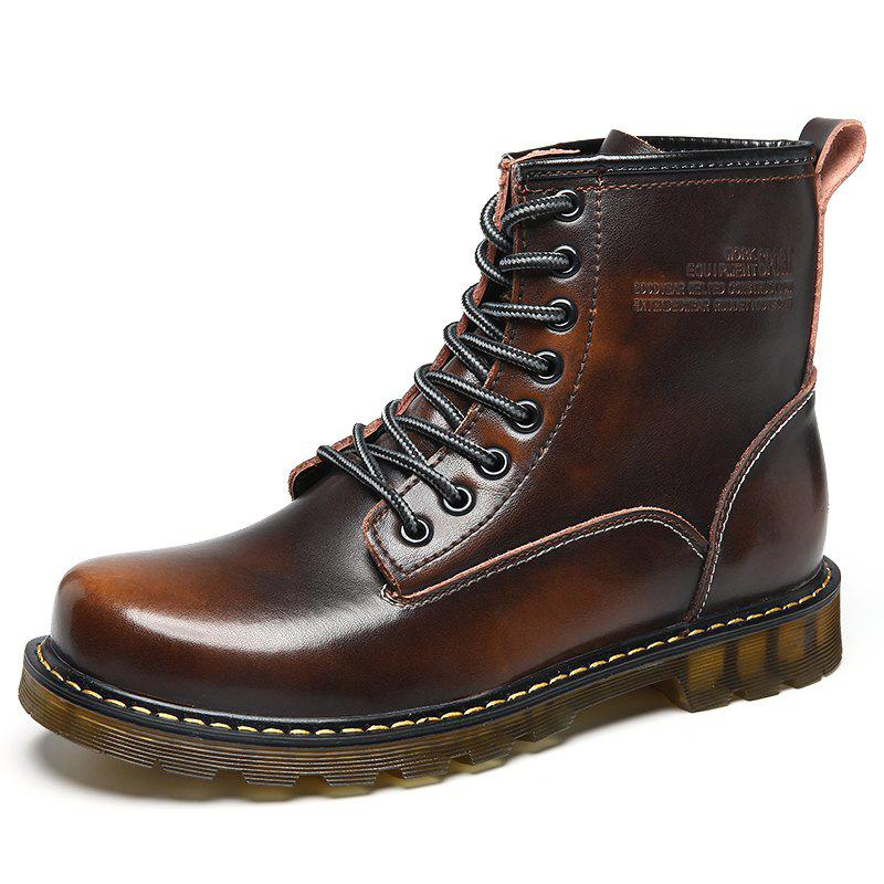 Latest Men High-Cut Brush Leather Wear-Resistant Anti-Skid Leisure Outdoor Work Boots