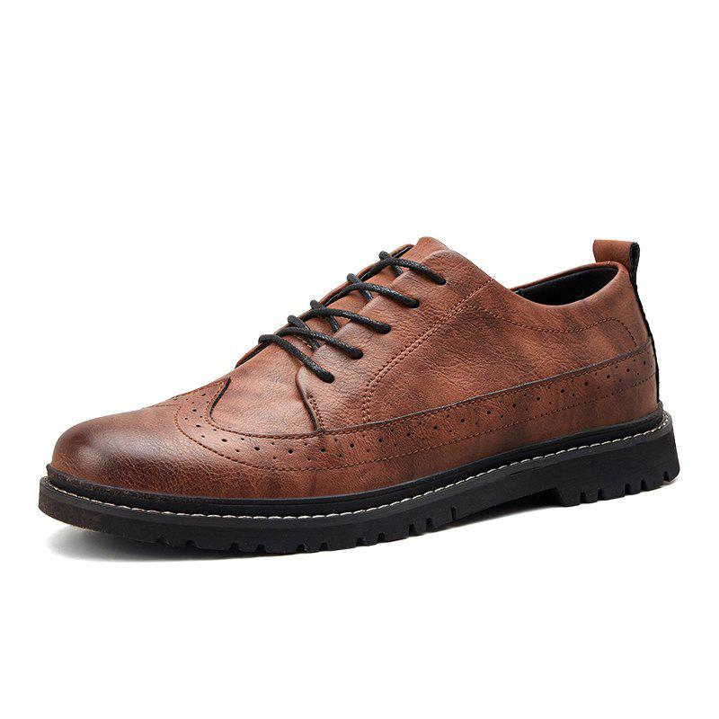 Fancy Bullock Men Low-Cut Casual Oxford Shoes