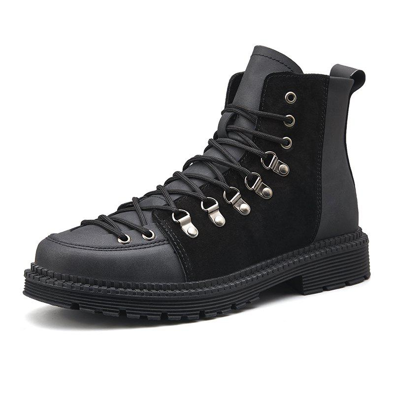 Sale Men Lace Trend  Low-Heeled Casual Shoes Tooling Boots