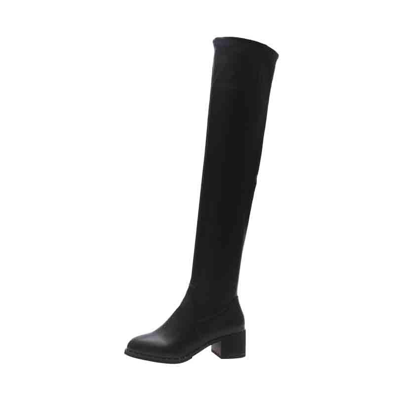 Store Square and Medium Tube Round Head Comfortable Boots