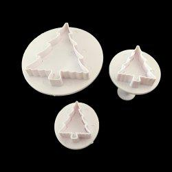 Two Sets of Christmas Tree Candy Die-Cutting and Cookie Moulding -