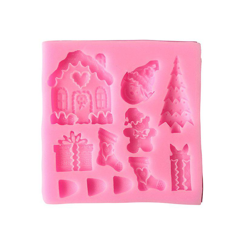 Best 2PCS Christmas Tree House Liquid Silicone Mold Turns Sugar Cake Baked