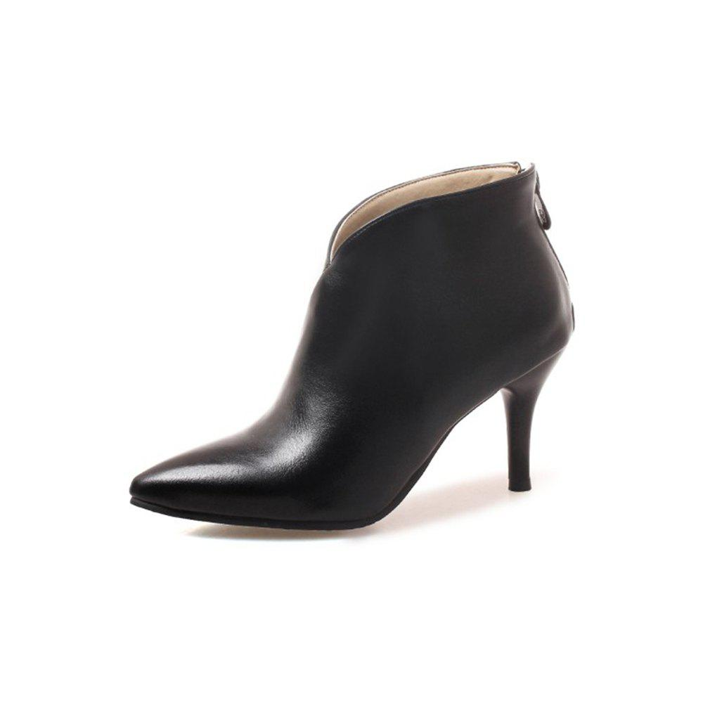 Outfits Autumn and Winter Fashion New High-Heeled Pointed Female Boots Back Zipper Boots
