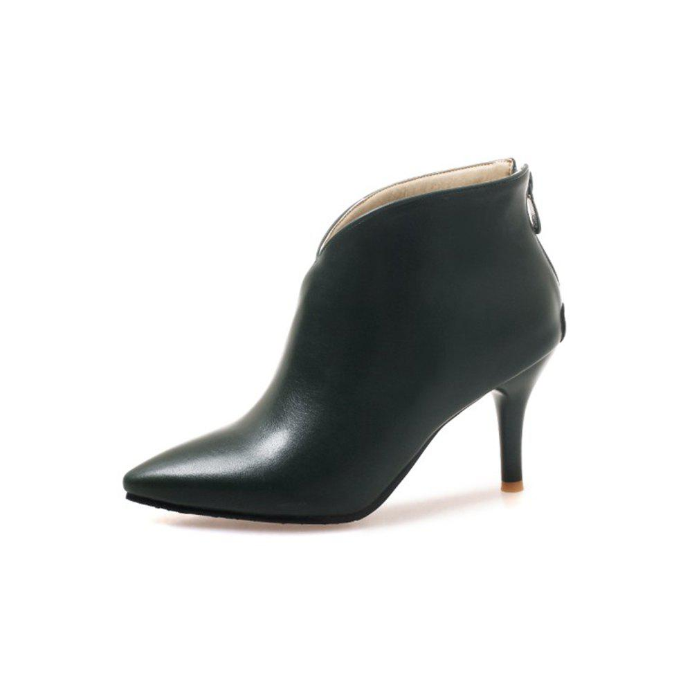 Cheap Autumn and Winter Fashion New High-Heeled Pointed Female Boots Back Zipper Boots