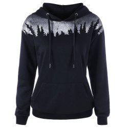 Women'S Autumn/Winter Hooded Prints with Hoodies Have Pockets -
