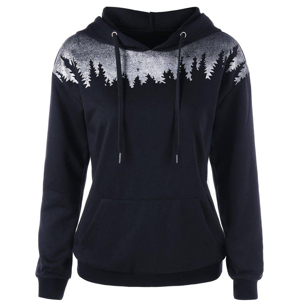 Outfit Women'S Autumn/Winter Hooded Prints with Hoodies Have Pockets