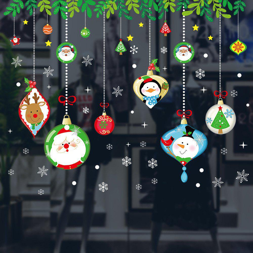 Outfits Christmas Window Glass Stickers