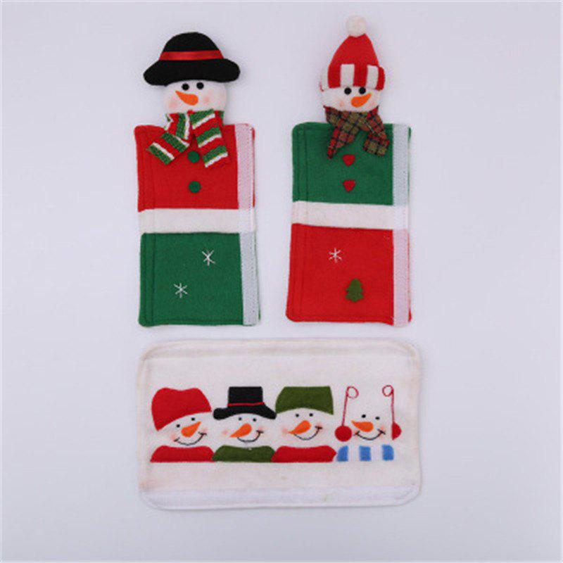 Affordable Christmas Decoration Microwave Oven Gloves Supplies Cartoon Old Man Snowman Cove