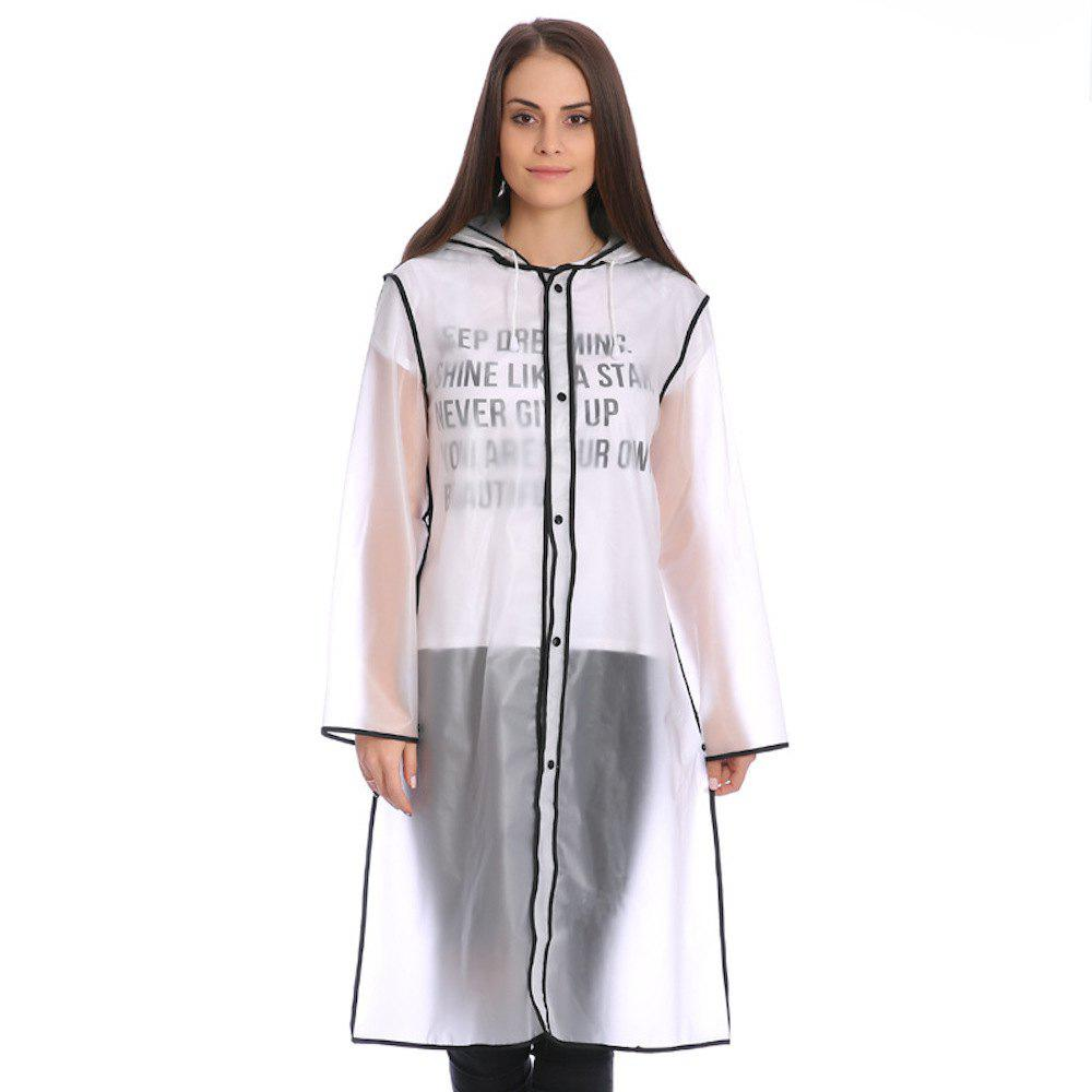 Buy Rain Poncho Outdoor Women Raincoat with Black Edge and Hood Rain Jacket