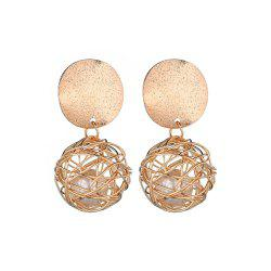 Vintage Simple Woven Ball Earrings -