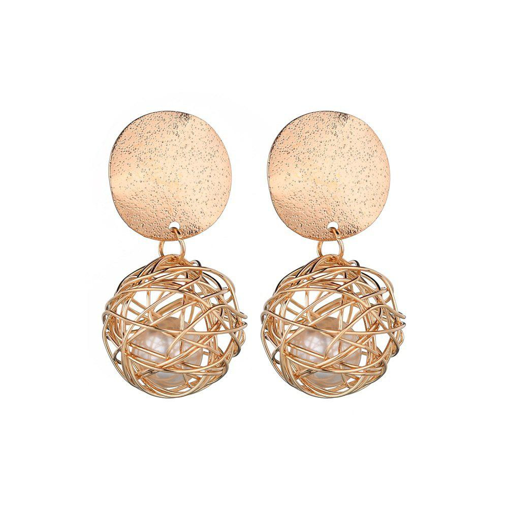 Fashion Vintage Simple Woven Ball Earrings