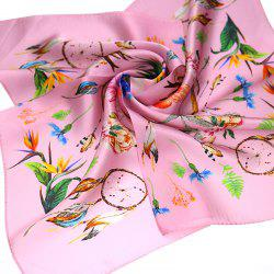 Yueor Mulberry Silk Crepe Satin Printed Pretty Scarf -
