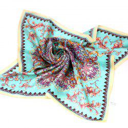 Yueor Mulberry Silk Crepe Satin Printed Scarf Fashion -