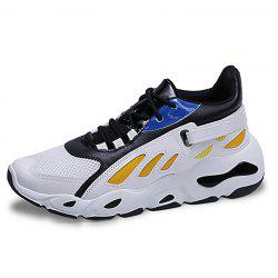 Men Breathable Trend Sports Net Shoes Heighten Shoes -