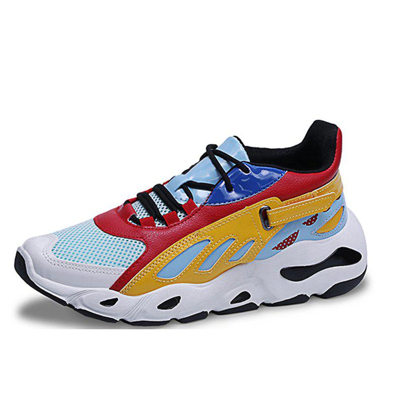 Shop Men Breathable Trend Sports Net Shoes Heighten Shoes