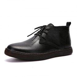 Fashionable and Simple Men'S Casual Leather Boots -