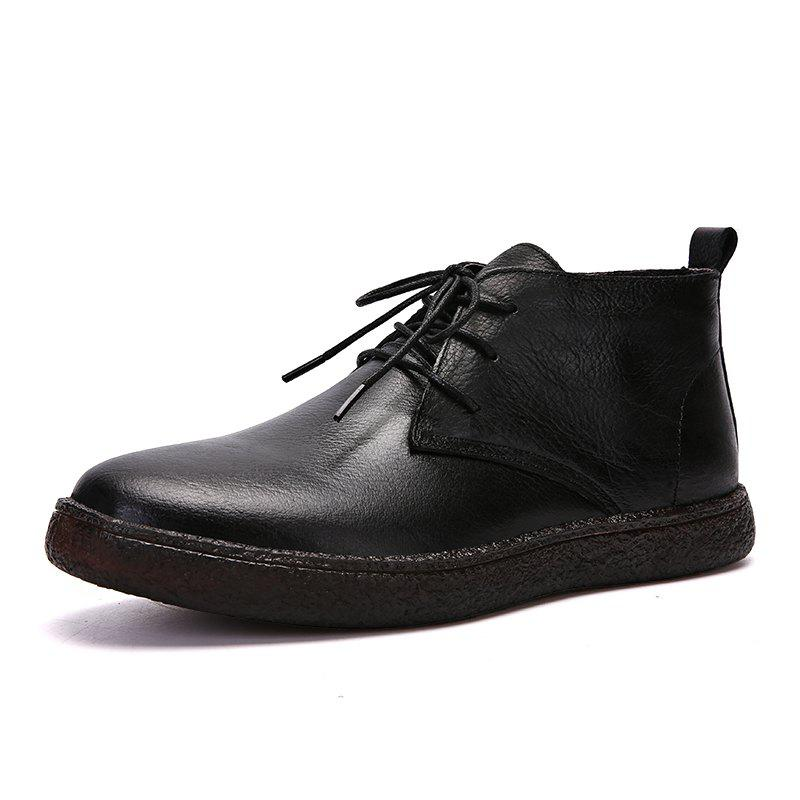 Discount Fashionable and Simple Men'S Casual Leather Boots