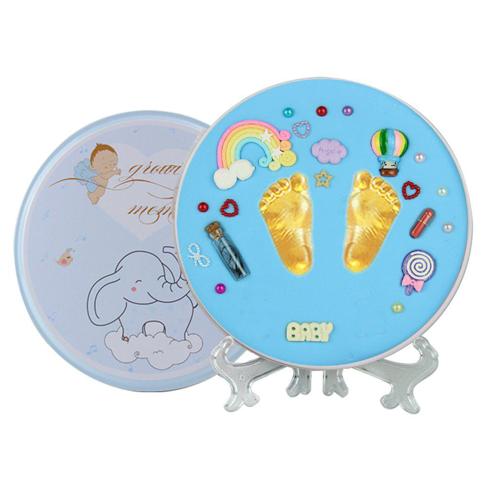 Affordable Newborn Baby Hand Print and Foot Print Clay Ink Paste Mud Infant Iron Box Souven