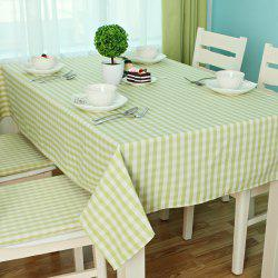 Jinsehuanian Little Green Plaid Impermeable Tablecloth -