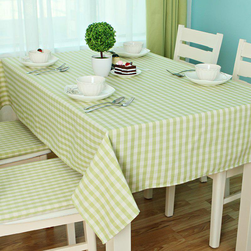 Jinsehuanian Little Green Plaid Impermeable Tablecloth