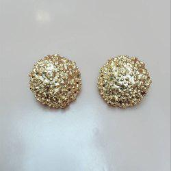 Golden Yellow Female Fashion Ear Clip Temperament Round Earrings Jewelry -