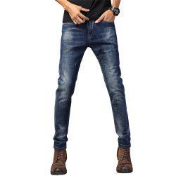 Men'S Casual Sports Stretch Loose Jeans Trousers -