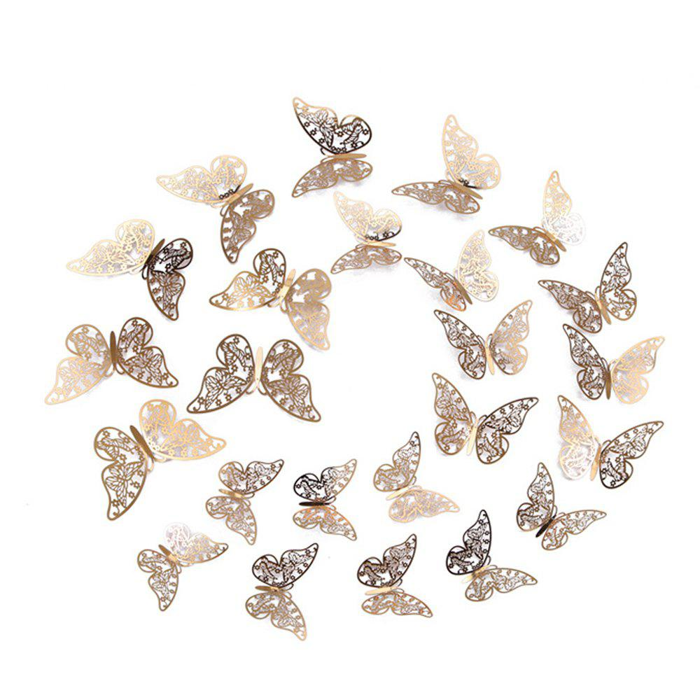 Fancy 12 golden butterfly home decoration butterfly adornment 3D Butterfly Wall Sticke